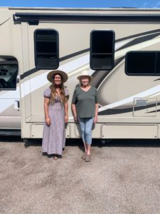Here I am with Sarah in front of her motor coach. She did the trip with THOR Industries and used their THOR Motor Coach Four Winds 28Z RV - she had a wonderful time in the United States.