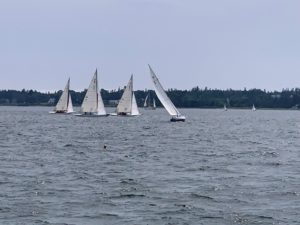 We saw some beautiful sailboat racing in the Harbor. Many boats are International One Design, also know as IOD, sloops.