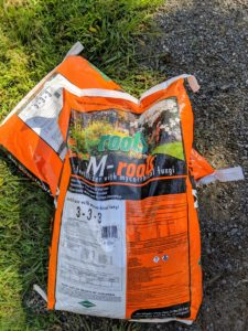 We like to use Roots M-roots fertilizer with mycorrhizal fungi. The mycorrhizal fungi can help increase transplant survival and increase water and nutrient absorption.