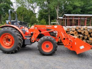 These tractors are designed to work on large farms with many acres. This vehicle is designed with comfort in mind and easy to access, ergonomic controls built into a console for more efficiency.