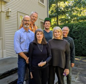 Here I am with Andrew, Bob, Margaret, Ryan and Bill. Andrew hasn't visited in quite a long time. He is now working in Portland, Oregon as Publisher at Timber Press. Margaret is an author, award-winning podcast host, and creator of the web site, awaytogarden.com.