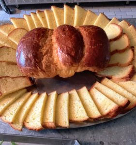 "I made brioche - see my Instagram page @MarthaStewart48 for the recipe. I use my favorite recipe from ""Baking at Republique"" by Margarita Manzke."
