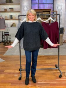 This week, I shared some of my fall apparel pieces. Here I am in my Dolman Sleeve Pullover Sweater in heather charcoal. It also comes in honey nougat and dark taupe. It is so comfortable. It can be used alone or over a blouse.