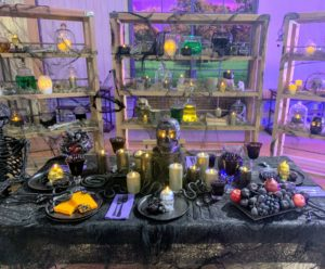 I am so excited about all my Halloween decorations. Halloween is one of my favorite occasions. This table display shows many of my new candle designs - all perfect for Halloween.