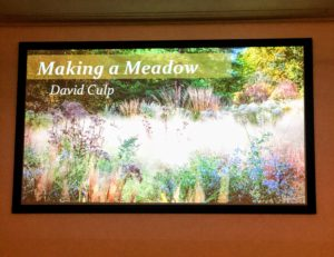 "I listened to other presentations - this one by David Culp, author and garden designer on ""Making Meadows."""