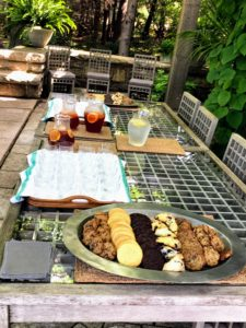 My guests from the Bar Harbor Garden Club were also served refreshing pomegranate iced tea and blueberry scones.