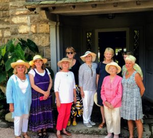Here I am with some of the members of the Bar Harbor Garden Club - it was a perfect morning for a garden tour. Happy 85th Anniversary. On my next blog - more photos from Maine, including my birthday celebration!