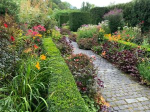 "Many hedges around the garden separate the various spaces and ""rooms"". This is the ""Indian Walk"". (Photo courtesy of Hollister House Garden)"