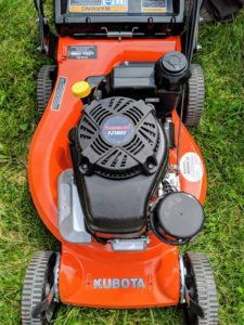 All the mowers have powerful Kawasaki engines, cast aluminum wheels and decks, and edge guards to protect the machines.