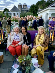 Christopher hosts an intimate birthday dinner party every year. Here I am with Christopher's mom, Amy Mayfield, and their friend, Patrice Masri.