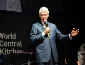 Former President Bill Clinton spoke about the efforts of WCK and how the organization has helped so many people in so many countries including the US. (Photo by Astrid Stawiarz/Getty Images)