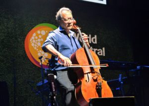 Master cellist Yo Yo Ma also performed. Yo Yo Ma continues to play as a soloist with orchestras around the world. He has recorded more than 90-albums and received 18-Grammy Awards. (Photo by Astrid Stawiarz/Getty Images)