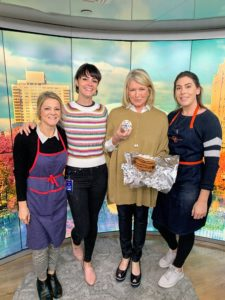 After the segment, I stopped for this quick photo with three of The Today Show food stylists - Kristen Little, Ashley Holt, and Katie Stilo.
