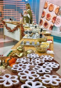 "The table was set up with stations to show the recipe details for three cookies from ""Martha Stewart's Cookie Perfection."" All the cookies in the book are so fun to make and really add a tasty twist to some of your traditional cookie favorites."