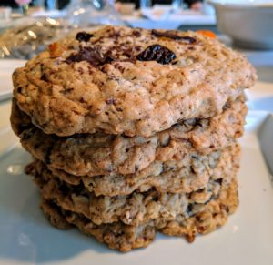 And if you want to add everything to your cookie - try our rendition of the Kitchen-Sink Cookies - giant cookies loaded with tart dried fruit, toasted nuts, chocolate, rolled oats, and coconut flakes. My friends ate one and then took an extra to go - they're that good.
