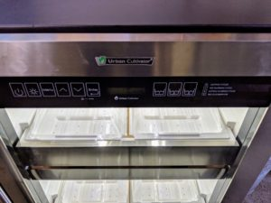 Urban Cultivators have pre-programmed control centers to ensure greens get exactly the right amount of water, light, and humidity for what is growing inside.