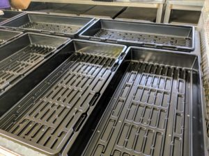 Each of the 16 trays measures 10-inches by 20-inches.