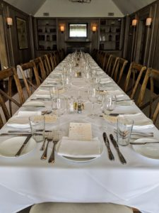 We reserved a private room in The Bedford Post Farmhouse. A long table was set up for all our guests.