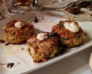 And crab cakes - these went very quickly.