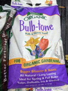 The Espoma Bulb-Tone Plant Food is a blend of natural and organic ingredients and is recommended for all bulbs, such as crocus, daffodils, hyacinths, and tulips.