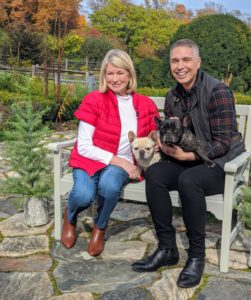 For this tease to the show, QVC host Alberti Popaj joined me on my terrace parterre with my French Bulldogs, Creme Brulee and Bete Noire.