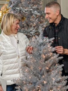 We talked about all my trees. They're so easy to assemble and with the instant power technology, each section can light up as it is put together on the base. These gold and silver tinsel trees also come in a variety of sizes to fit your home.