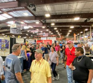 The show included hundreds of vendors and exhibitors, Booths were set up to look like real home environments featuring the newest in floors, countertops, home decor and more.