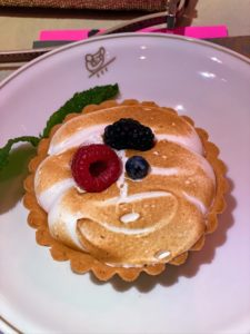 Our dessert was a delicious lemon meringue with mixed berries tart.