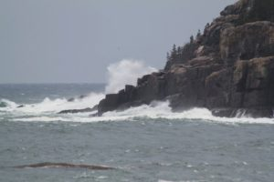 This photo was taken along Ocean Drive - a five-mile stretch hugging Maine's rugged granite coastline. Cheryl is the first to admit she loves the force and the energy of the ocean, but she also has a healthy respect for it.