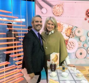 Here I am with Andy Cohen just before my segment began.