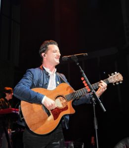 This is musician Marc Roberge who performed onstage with his band O.A.R. (Photo by Dimitrios Kambouris/Getty Images)
