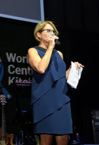 """And next, award-winning journalist, and co-founder of """"Stand Up to Cancer"""" and her own media company, Katie Couric, spoke. (Photo by Dimitrios Kambouris/Getty Images)"""