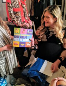 "She also received books. This one is entitled ""Albanian Children's Book: Your Child's First 30 Words"" from CreateSpace Independent Publishing Platform."