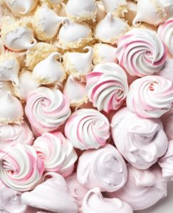 These are the Perfect Swiss Meringues. I provide three different kinds in this book - all using the same base with varying ingredients and important tips for making the most beautiful meringue. (Photo by Lennart Weibull)