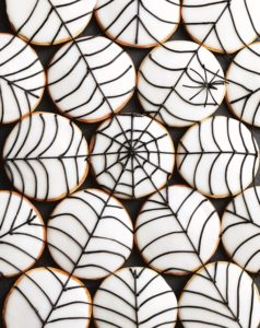 These are Halloween Spiderweb Cookies - perfect for all your little trick-or-treaters. (Photo by Lennart Weibull)