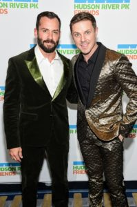 Here, the event producer, Josh Wood, poses with Jake Shears of Scissor Sisters. (Photo by Jamie McCarthy/Getty Images)