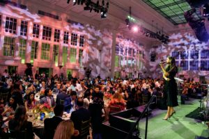 After dinner, an auction was held to raise money for the Hudson River Park projects. Lydia Fenet led a very lively auction. (Photo by Bryan Bedder/Getty Images)
