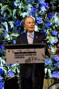 One by one, each of the three Honorees was called to the stage to speak about their devotion to and work for the park. Here is Michael Bloomberg. (Photo by Jamie McCarthy/Getty Images)