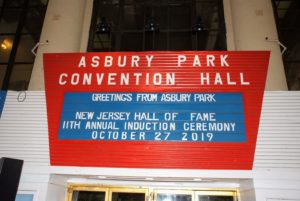 Next stop - the Asbury Park Convention Hall and Paramount Theatre. The entire venue is a 3600-seat indoor exhibition center. It was built between 1928 and 1930 and is used for sports, concerts and other special events. (Photo by Gary Gellman/Gellman Images)