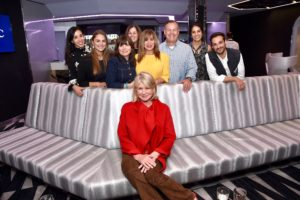 And here's one more photo of our team - Stella, Lindsey, Kim, Carolyn D'Angelo, Dorian Arrich, Jerry Haggerty, Samantha Seneviratne, and Thomas. What a lovely event aboard this amazing vessel. (Photo by Jamie McCarthy/Getty Images)