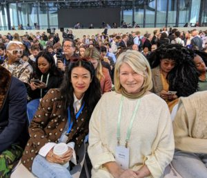 """I also bumped into my friend, Kate Berry, former Style Director for """"Martha Stewart Weddings"""". We had front row seats in the packed room - every seat was taken."""