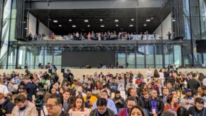Google held the morning event at The Shed - a performance hall at Hudson Yards whose retractable shell is the signature feature of the 200-thousand square-foot design by architect Diller Scofidio + Renfro and Rockwell Group.