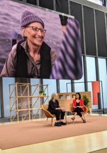 And then we heard from acclaimed portrait photographer, Annie Liebovitz. Annie was interviewed by Google PR spokesperson, Lily Lin, and spoke about her newest series of portraits, shot exclusively on Google Pixel. Leibovitz helped in the development phases of the camera and used the new models for one full year.