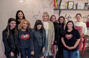 Here I am with Dani, her team, Jessie Lison from Magrino, Kim Dumer and Heather Kirkland from my office, and Robin Marino, former President and CEO, Merchandising at Martha Stewart Living Omnimedia.