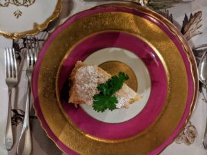 The Bisteeya is served as the appetizer - it is a traditional Moroccan dish.