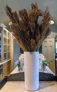 It makes a very pretty autumn bouquet for my servery - and all of it grown right here at the farm. Have you ever grown broom corn? Let me know what you think about this interesting crop in the comments section below.