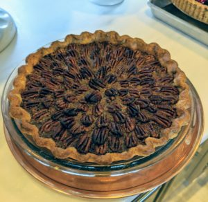 And, if you missed yesterday's LIVE class, I made this flavorful Chocolate-Bourbon-Pecan Pie. It is so good.