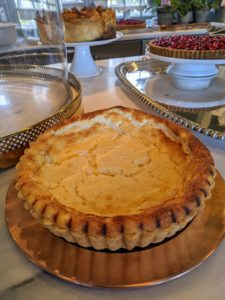 "And here is a Tart au Fromage. It resembles a ricotta cheesecake in flavor and texture, but it is made with a mixture of creme fraiche and farmer's cheese. I made this in season-11 of my television show, ""Martha Bakes"" on PBS. I hope you enjoy your day of cooking and baking. Have a wonderful and safe Thanksgiving."