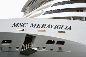 The MSC Meraviglia also includes a crew of 1536. (Photo by Jamie McCarthy/Getty Images)