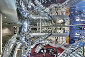 Here is another view of the atrium seen from one of the many decks. (Photo courtesy MSC Cruises USA)
